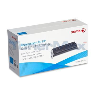 XEROX HP CLJ 1600 TONER CARTRIDGE CYAN Q6001A